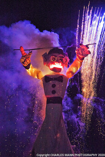The burning of Zozobra in early September is a part of the celebration of the Santa Fe Fiesta.