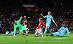 Juan Mata of Manchester United scores his sides second goal during the UEFA Europa League match at Old Trafford, Manchester. Picture date: November 24th 2016. Pic Matt McNulty/Sportimage