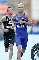 31 AUG 2007 - HAMBURG, GER - Roman Bauer (KAZ) - Under 23 Mens World Triathlon Championships. (PHOTO (C) NIGEL FARROW)