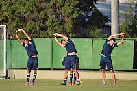 SAO PAULO, SP, 12.08.2014 - TREINO DO PALMEIRAS - Jogadores do Palmeiras durante o treino na Academia de Futebol na zona oeste nesta terça feira 12  (Foto: Bruno Ulivieri - Brazil Photo Press).