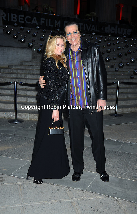 Gianna and Chazz Palminteri arriving at The Vanity Fair Tribeca Film Festival Party on April 20, 2010 at The State Supreme Courthouse in New York City.