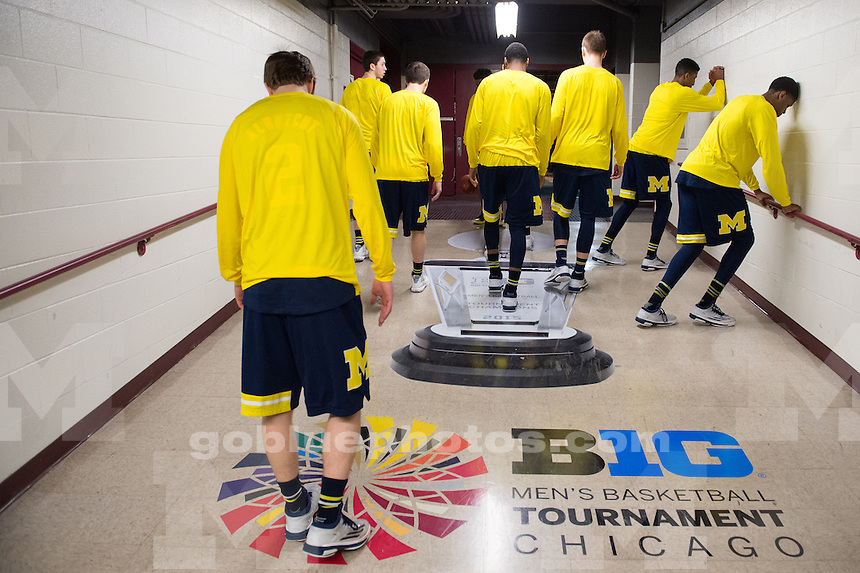 The University of Michigan men's basketball team plays Wisconsin during the Big Ten Tournament at the United Center in Chicago, Ill. on Friday, March 13, 2015.