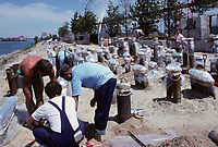 Montreal (Qc) CANADA, File Photo<br /> <br /> Preparation of the Montreal Fireworks at La Ronde<br /> photo : (c) images Distribution