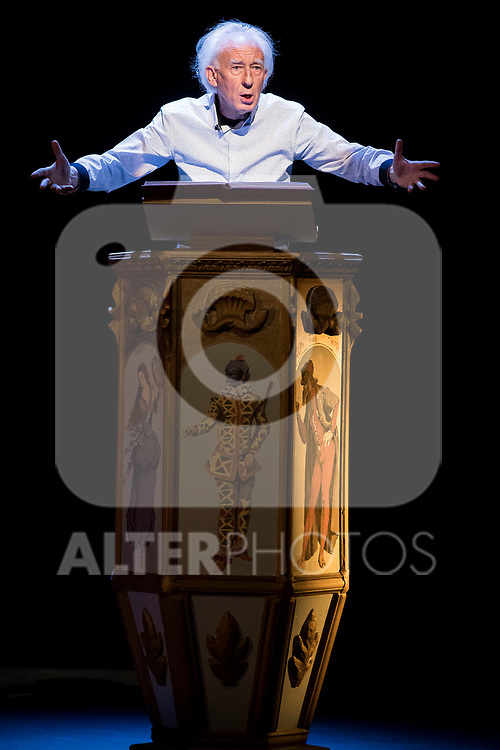 Albert Boadella during theater play &quot;El sermon del bufon&quot; at Teatro Marquina in Madrid, April 20, 2017. Spain.<br /> (ALTERPHOTOS/BorjaB.Hojas)