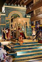 Wagen des Nebukadnezar  bei  der Karfreitagsprozession der Semana Santa (Karwoche) in Lorca,  Provinz Murcia, Spanien, Europa