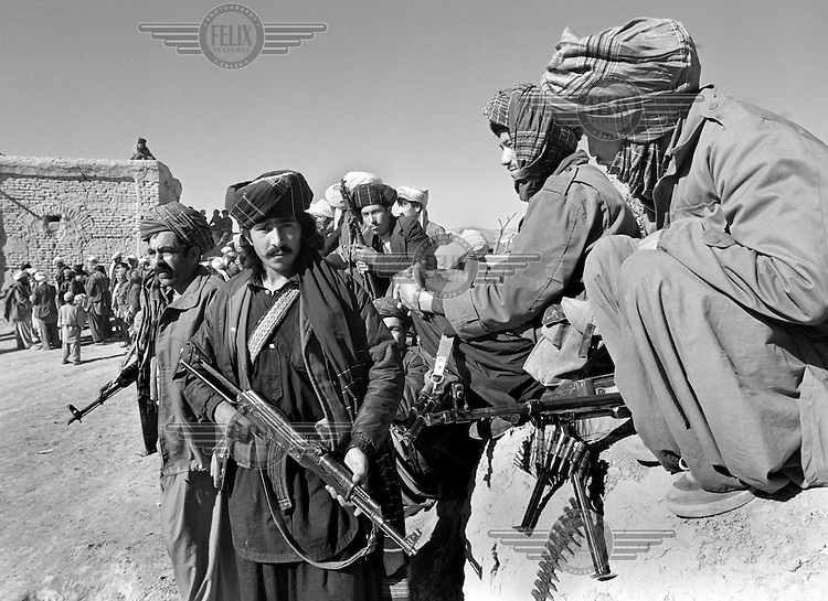Soviet-supported Afghan fighters near Mazar-e-Sharif on Wednesday, November 8, 1989.