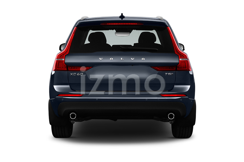 Straight rear view of a 2018 Volvo XC60 Momentum 5 Door SUV stock images