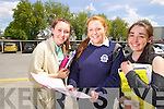 Pictured are students from Presentation Secondary School, Tralee, who sat the Leaving Certificate on Wednesday morning were l-r: Niamh Hurley (Tralee) Emma Murray (Tralee) and Chloe Flynn (Tralee).