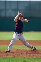 Cleveland Indians pitcher Billy Strode (47) during an instructional league game against the Los Angeles Dodgers on October 15, 2015 at the Goodyear Ballpark Complex in Goodyear, Arizona.  (Mike Janes/Four Seam Images)