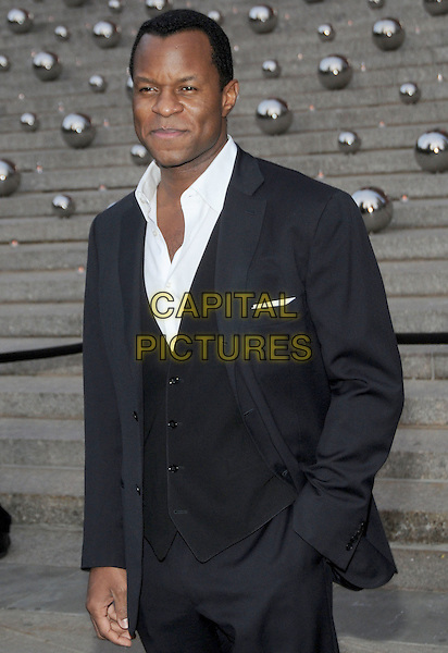 GEOFFREY FLETCHER .9th Annual Tribeca Film Festival - Vanity Fair Party held at at New York State Supreme Court, New York, NY, USA, .20th April 2010..half length black suit jacket white shirt hand in pocket  waistcoat grey gray .CAP/ADM/BM.©Bill Menzel/AdMedia/Capital Pictures.