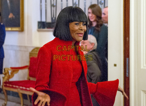Actress Cicely Tyson arrives to accept Presidential Medal of Freedom, the Nation&iacute;s highest civilian honor, from United States President Barack Obama in the East Room of the White House in Washington, DC on November 22, 2016.<br /> CAP/MPI/RS<br /> &copy;RS/MPI/Capital Pictures