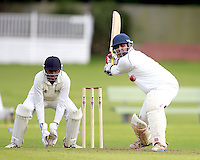 Mehul Gokhani bats for Harrow Town during the ECB Middlesex Division Three game between Highgate and Harrow Town at Park Road, Crouch End on Saturday May 24, 2014