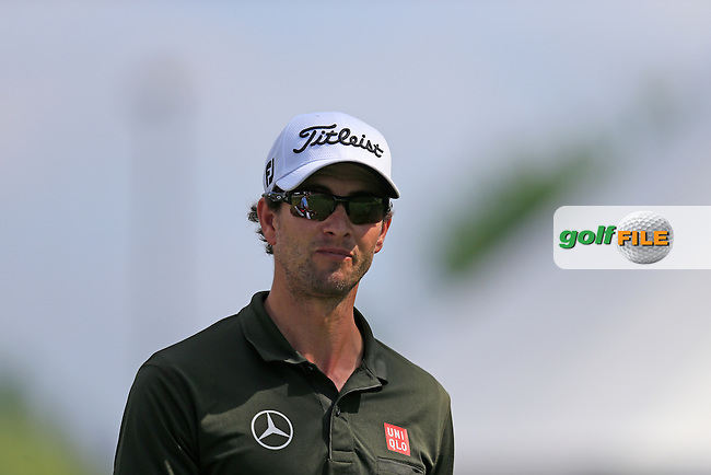 Adam Scott (AUS) walks off the 17th tee during Thursday's Round 1 of the 2013 Bridgestone Invitational WGC tournament held at the Firestone Country Club, Akron, Ohio. 1st August 2013.<br /> Picture: Eoin Clarke www.golffile.ie