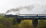 10-5-2015:  Engine 461 steams uphill over  &quot;Quagmire Viaduct' at Barraduff in County kerry on Sunday pulling several carriages of tourists bound for Cork. The train was part of the Railway Preservation Society of Ireland's 46th Irish Railway Heritage Weekend and took in Belfast, Cobh, Cork, Dublin, Killarney, Midleton and Whitehead.<br /> Featuring Picture by Don MacMonage