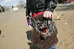 CHAD PILSTER &middot; Hays Daily News<br /> <br /> John Legleiter, 14 and a gun-wielding-werewolf-zombie, waits to start Tuesday, March 19, 2013, during a game of werewolf zombies versus ninjas at Ekey Park in Hays, Kansas. He was playing with others as they used their imagination while on Spring Break.