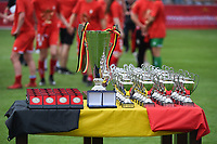 20180526 - Eupen , BELGIUM : Belgian Cup and medals pictured during the final of Belgian cup 2018 , a soccer women game between KRC Genk Ladies and Standard Femina de Liege  , in the  Kehrweg stadion in Eupen , saturday 26 th May 2018 . PHOTO SPORTPIX.BE   DIRK VUYLSTEKE