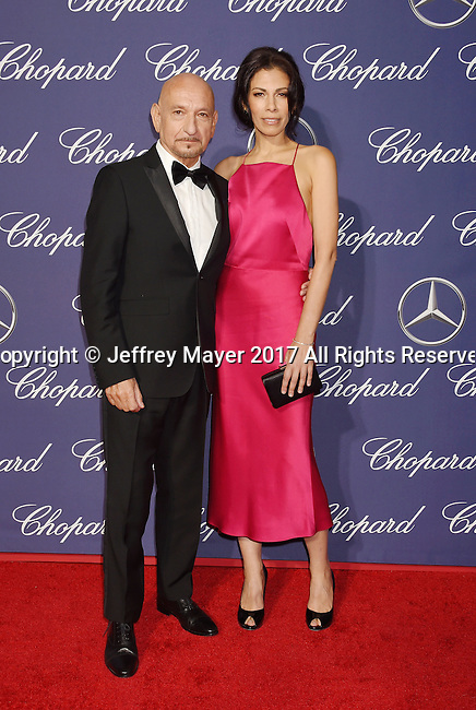 PALM SPRINGS, CA - JANUARY 02: Actors Sir Ben Kingsley (L) and Daniela Lavender attend the 28th Annual Palm Springs International Film Festival Film Awards Gala at the Palm Springs Convention Center on January 2, 2017 in Palm Springs, California.