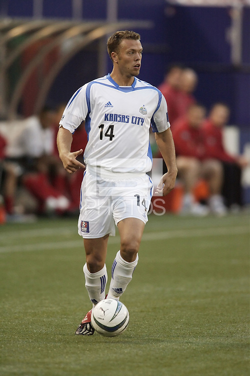 The Wizard's Jack Jewsbury. The Kansas City Wizards were defeated by  the NY/NJ MetroStars to a 1 to 0 at Giant's Stadium, East Rutherford, NJ, on May 30, 2004.