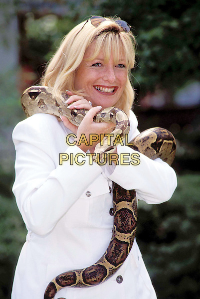 GABY ROSLIN.Ref: 1368 .snake, animal, half length, half-length.www.capitalpictures.com.sales@capitalpictures.com.© Capital Pictures