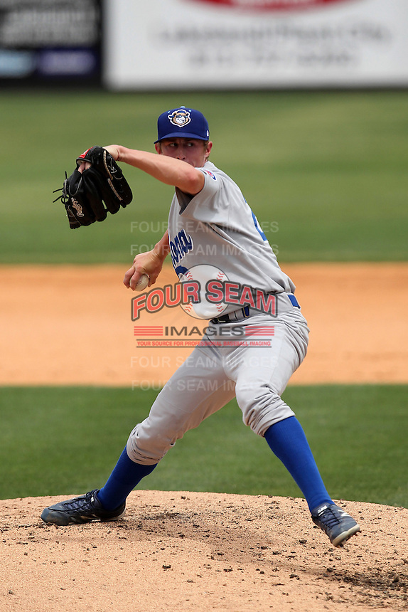 Daytona Cubs pitcher Hayden Simpson #27 during a game against the Lakeland Flying Tigers at Joker Marchant Stadium on April 29, 2012 in Lakeland, Florida.  Lakeland defeated Daytona 6-4.  (Mike Janes/Four Seam Images)