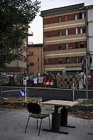 Terremoto de L'Aquila. L'Aquila Earthquake..La casa dello studente.The student's home.