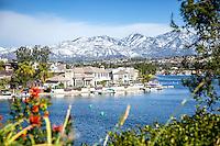 Scenic Lake Mission Viejo in Southern California