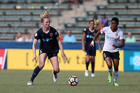 Cary, North Carolina  - Saturday July 01, 2017: Samantha Mewis and Maya Hayes during a regular season National Women's Soccer League (NWSL) match between the North Carolina Courage and the Sky Blue FC at Sahlen's Stadium at WakeMed Soccer Park. Sky Blue FC won the game 1-0.