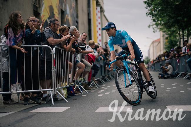 Mikel Landa (ESP/Movistar) at the Team presentation in La Roche-sur-Yon<br /> <br /> Le Grand Départ 2018<br /> 105th Tour de France 2018<br /> ©kramon