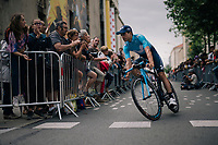 Mikel Landa (ESP/Movistar) at the Team presentation in La Roche-sur-Yon<br /> <br /> Le Grand D&eacute;part 2018<br /> 105th Tour de France 2018<br /> &copy;kramon