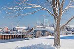A winter morning in Ogunquit, ME, USA