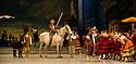 London, UK. 30.03.2013. The Mikhailovsky Ballet present DON QUIXOTE at the London Coliseum. Picture shows: Alexey Kuznetsov (Sancho Panza) and Marat Shemiunov (Don Quixote). © Jane Hobson.