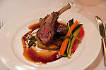 New Zealand, South Island, Marlborough, dinner of roast lamb at Wither Hill Winery. Photo copyright Lee Foster. Photo #126312