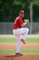 St. Louis Cardinals pitcher Brett Seeburger (29) during a Minor League Spring Training game against the Houston Astros on March 27, 2018 at the Roger Dean Stadium Complex in Jupiter, Florida.  (Mike Janes/Four Seam Images)