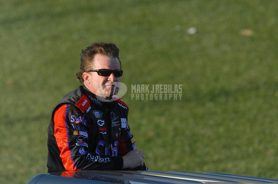Feb 24, 2007; Fontana, CA, USA; Nascar Busch Series driver Joe Nemechek (87) during the Stater Bros 300 at California Speedway. Mandatory Credit: Mark J. Rebilas