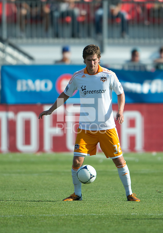 July 28, 2012: Houston Dynamo defender Bobby Boswell #32 in action during a game between Toronto FC and the Houston Dynamo at BMO Field in Toronto, Ontario Canada..The Houston Dynamo won 2-0.