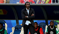 SAMARA - RUSIA, 28-06-2018: Aliou CISSE man técnico de Senegal durante partido de la primera fase, Grupo H, contra de Colombia por la Copa Mundial de la FIFA Rusia 2018 jugado en el estadio Samara Arena en Samara, Rusia. / Aliou CISSE coach of Senegal during match of the first phase, Group H, for the FIFA World Cup Russia 2018 played at Samara Arena stadium in Samara, Russia. Photo: VizzorImage / Julian Medina / Cont