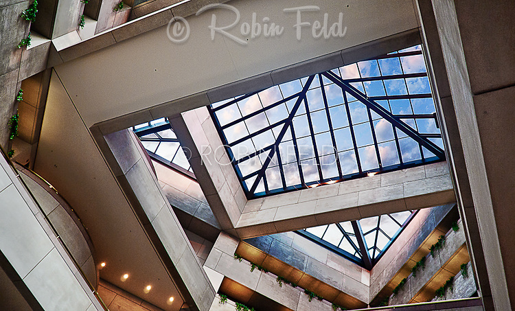 PNC Building Skylight: I.M.Pei designed building and built in Dayton Ohio in 1981. Shown is the skylight in the main lobby.