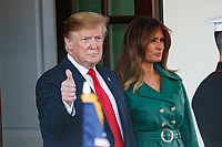 United States President Donald J. Trump and First Lady Melania Trump participat in the departure of Czech Republic Prime Minister Andrej Babis and Mrs. Monika Babisova on the South Portico at White House in Washington, District of Columbia on Thursday, March 7, 2019. <br /> Credit: Ting Shen / CNP / MediaPunch<br /> CAP/MPI/CNP/AE<br /> &copy;AE/CNP/MPI/Capital Pictures