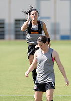 Houston, TX - Friday Oct. 07, 2016: Ali Krieger during training prior to the National Women's Soccer League (NWSL) Championship match between the Washington Spirit and the Western New York Flash at BBVA Compass Stadium.