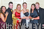 Party: Enjoying the Mounthawk Debs in The Earl of Desmond Hotel, Tralee, on Saturday evening were Gillian Lewis, Ballyroe, James OConnor, Leith West, Ciara OSullivan, Dromtacker, Jennifer Quirke, Rock Park Avenue, Bridget Long and Chris Rogan, Rathoonane..