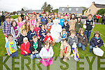 E.B. pictured here with some of the children who took part in the Big Easter Egg Hunt at Cracow Park on Valentia Island on Sunday.