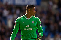 Neil Etheridge of Cardiff City during the Sky Bet Championship match between Cardiff City and Aston Villa at the Cardiff City Stadium, Cardiff, Wales on 12 August 2017. Photo by Mark  Hawkins / PRiME Media Images.