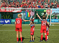 Portland, OR - Saturday September 02, 2017: Allie Long, Meghan Klingenberg during a regular season National Women's Soccer League (NWSL) match between the Portland Thorns FC and the Washington Spirit at Providence Park.
