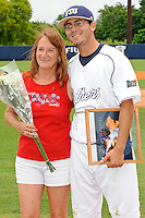 16 May 2010:  FIU's Eric Berkowitz (2) and family pose for a photo on the field prior to the game as FIU honored its seniors.  The FIU Golden Panthers defeated the University of South Alabama Jaguars, 5-0, at University Park Stadium in Miami, Florida.