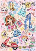 Interlitho, Dani, TEENAGERS, paintings, trendy girl(KL4039,#J#) Jugendliche, jóvenes, illustrations, pinturas ,everyday