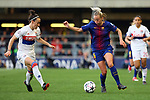 UEFA Women's Champions League 2017/2018.<br /> Quarter Finals.<br /> FC Barcelona vs Olympique Lyonnais: 0-1.<br /> Lucia Bronze vs Toni Duggan.
