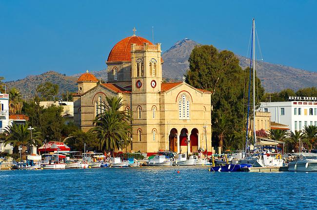 The Church of Panayitsa, Aegina Port , Greek Saronic Islands.