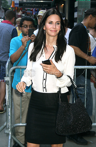 June 21, 2012 Courteney Cox at Good Morning America to talk about her TV series Cougar Town in New York City. © RW/MediaPunch Inc.