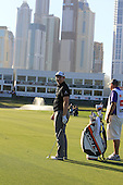 Stephen Gallacher (SCO) waits to play his 3rd shot on the 18th hole during Sunday's Final Round of the 2013 Omega Dubai Desert Classic held at the Emirates Golf Club, Dubai, 3rd February 2013..Photo Eoin Clarke/www.golffile.ie