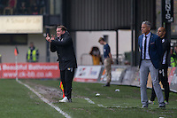 Newport County manager Graham Westley during the Sky Bet League 2 match between Newport County and Carlisle United at Rodney Parade, Newport, Wales on 12 November 2016. Photo by Mark  Hawkins.